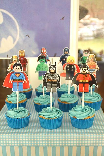 "Photo 6 of 25: Lego SuperHero Party / Birthday ""Braiden's Lego SuperHero Party """
