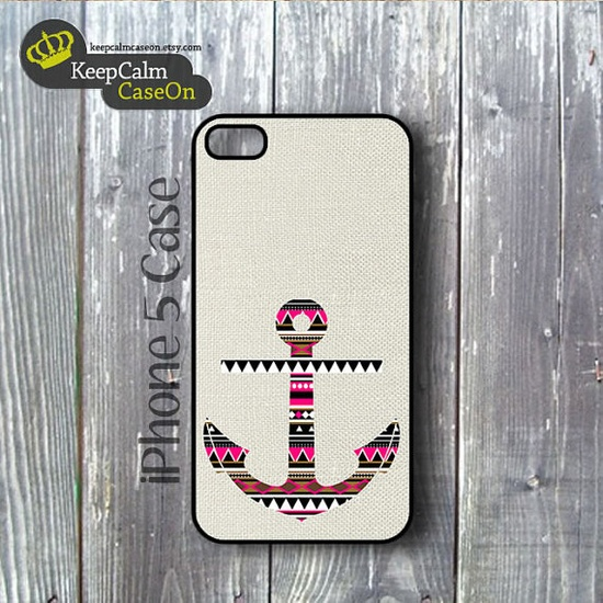 iPhone 5 Case Aztec Anchor iPhone Case Hard by KeepCalmCaseOn, $15.00
