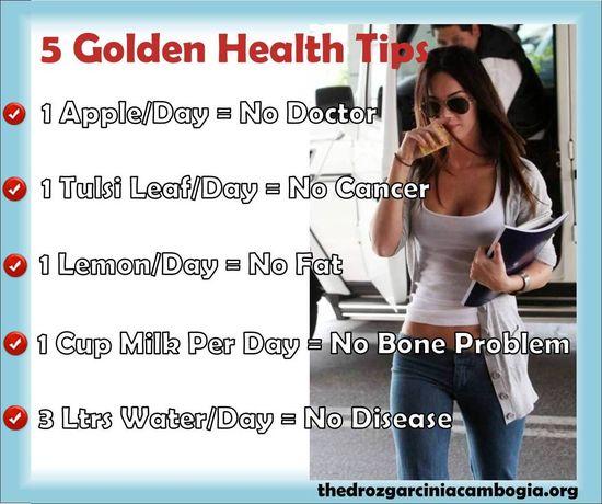 5 Golden #Health Tips