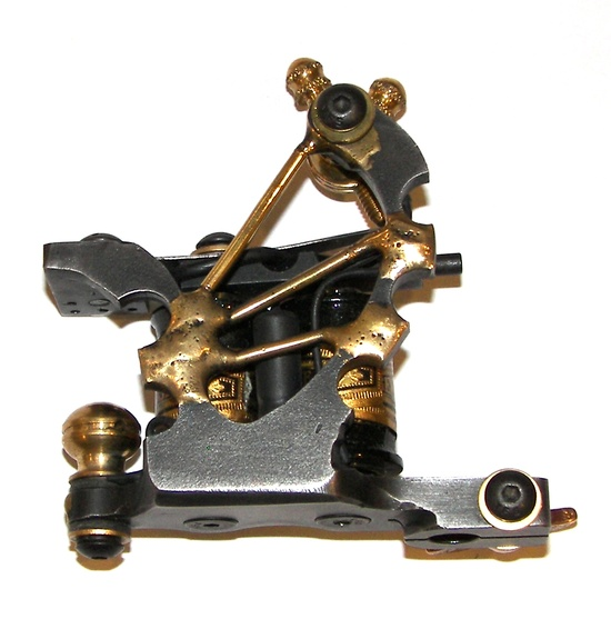 Custom Handmade Tattoo Machine. The Brass Fan. SHADER