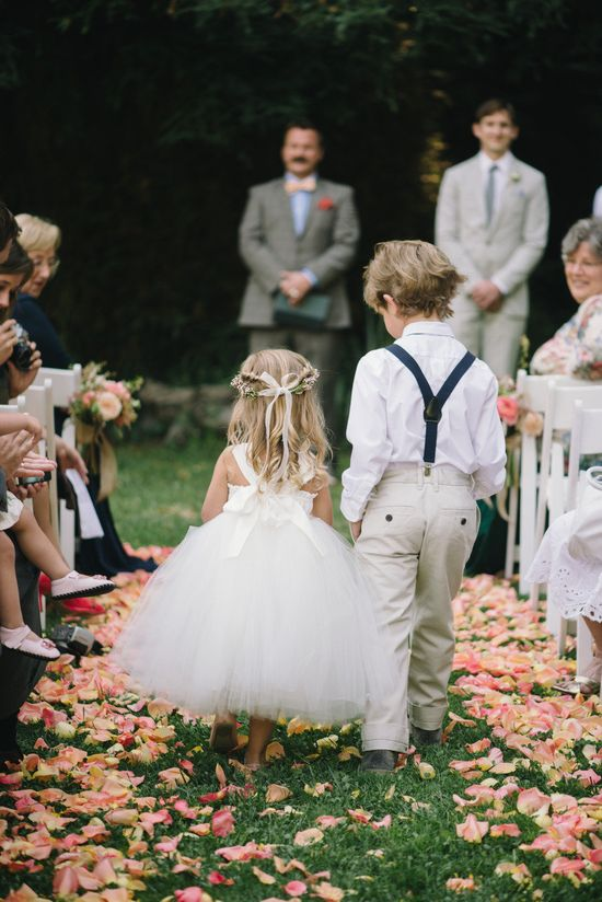 Adorable flower girl and ring bearer outfits