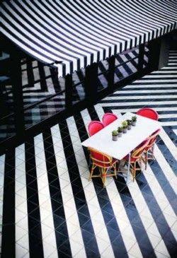 Black & White Striped Cafe