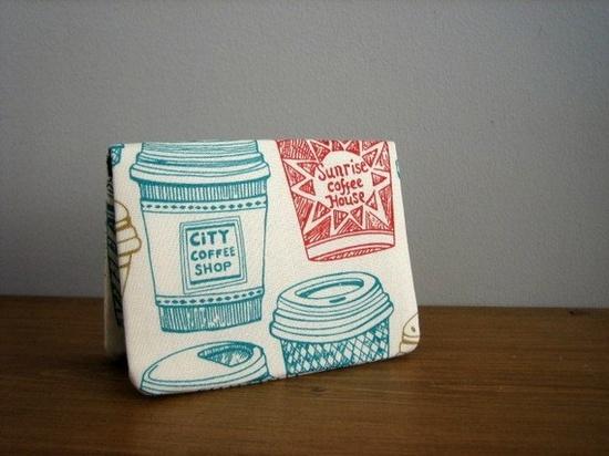 Great handmade card holders - cute fabrics!