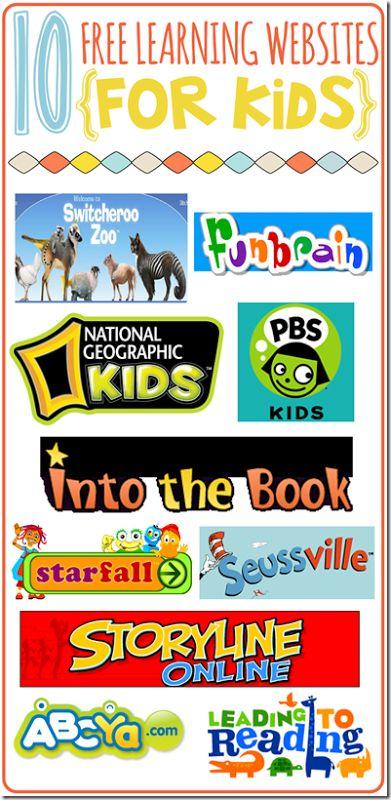 Summer Websites for Kids!