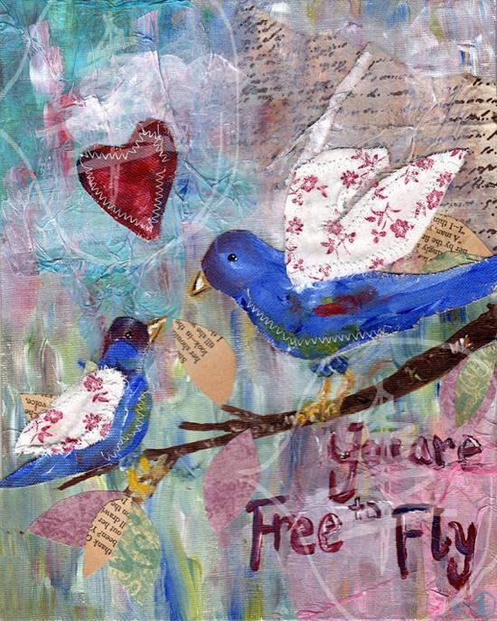 love birds collage