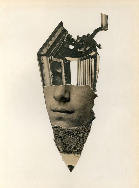 Sacapunta / Pencil sharpener, collage by Richard Vergez