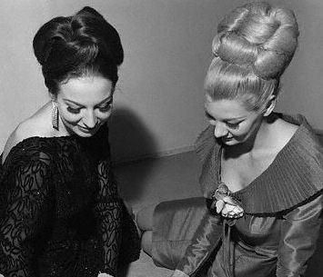 BIG 60's hair! Love these updo styles.