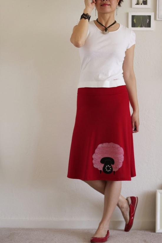what a fun skirt!