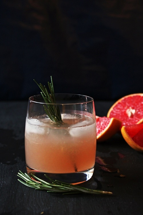 Rosemary Scented Grapefruit Cocktail - I obviously like the idea of grapefruit in my glass! :)