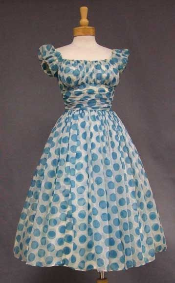 Vintage Polka Dot Dress. LOVE Mad Men