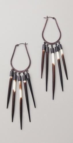 Quill earrings.