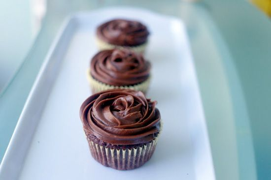 Chocolate Cupcakes with Nutella Cloud Frosting. Moist chocolate cupcakes with a really good flavor of chocolate. #chocolate #cupcake #recipe