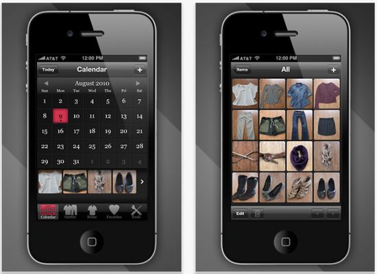 The best phone apps to help organize your closet.