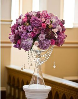 Rose and Crystal Altar Arrangement