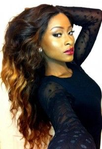 Beautiful ombré' sew in weave
