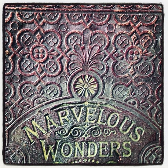 #antique #book cover #wonder