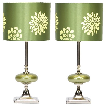 Green Table Lamps.