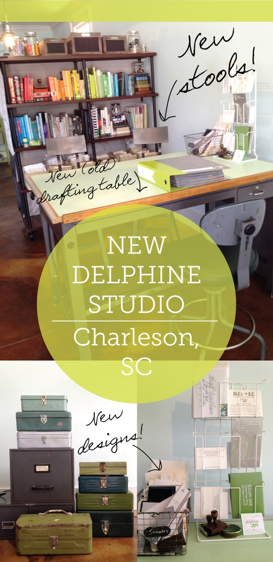 Stools arrived! We're officially open for visitors at our new Charleston, SC studio // DELPHINE