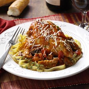Italian Chicken Chardonnay ~ It's perfect for a weeknight meal but is nice enough for company, too.