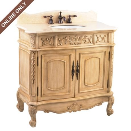 Ivory Sinclair Vanity Sink #kirklands #bathroomluxury