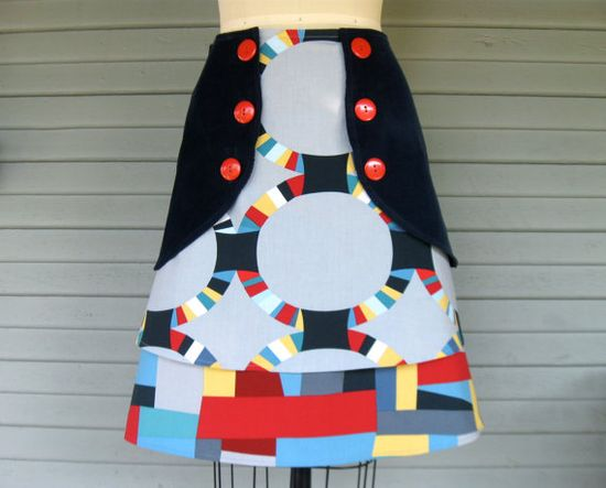 Crazy Quilt triple layer skirt Sz 6 by LoveToLoveYou on Etsy, $70.00