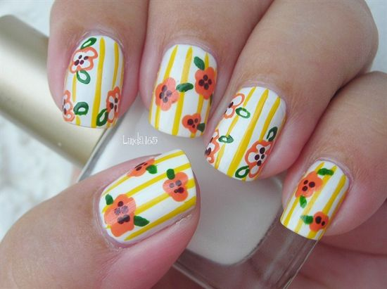 Sunny Flowers - Nail Art Gallery by NAILS Magazine