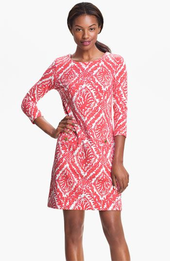 Lilly Pulitzer® 'Charlene' Coral Knit Shift Dress #Nordstrom #FallTrend