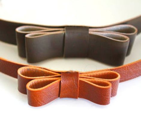 DIY Leather Bow Hair Accessory - Ruffles and Stuff