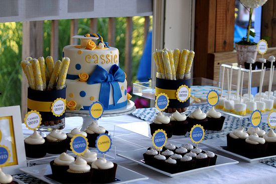 Cassie's Graduation Dessert Table got pic on flickr...graduation ideas