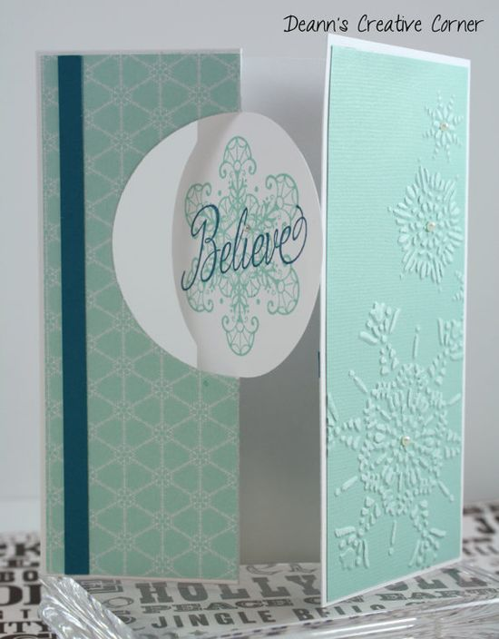 Christmas Card SET you PICK QUANTITY   by DeannsCreativeCorner, $2.50 Snowflake Christmas Card Believe Christmas Card Religious Christmas Card