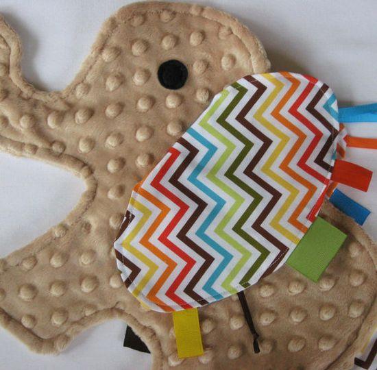 sensory elephant taggie toy