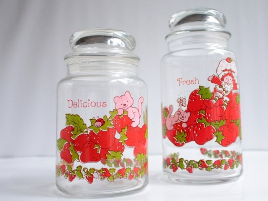 Canisters, Strawberry Shortcake, Vintage