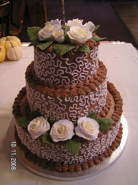 choco wedding cake