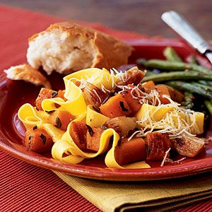 2001: Pasta with Roasted Butternut Squash and Shallots