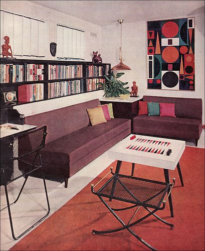 game room (via Better Homes and Gardens, 1957)