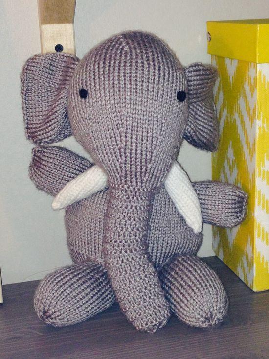 Elephant  pattern Sarah Keen knitted wild animals