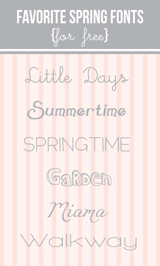 Free #spring #fonts Love the Summertime font!