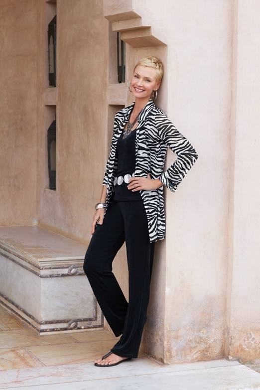 Travelers Collection Zebra Top #chicos
