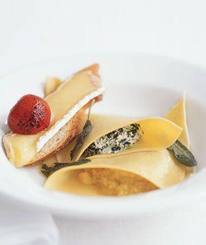 Spinach and Acorn Squash 'ravioli', via realsimple.com