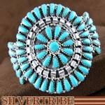 Native American Turquoise Jewelry Sterling Silver Cuff Bracelet