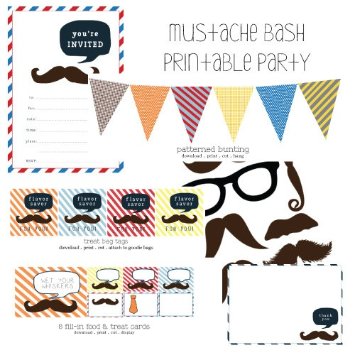 armommy..kids would love the mustaches! and glasses