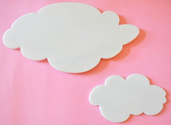 Handcrafted marble cloud platters.
