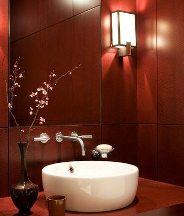 #red #hot #bathroom design