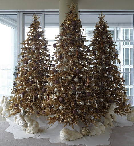 Beautiful #gold #Christmas trees