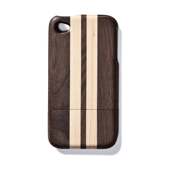 Light Striped Walnut iPhone 4 Case