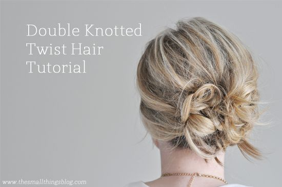 Double Knotted Twist Hair Tutorial