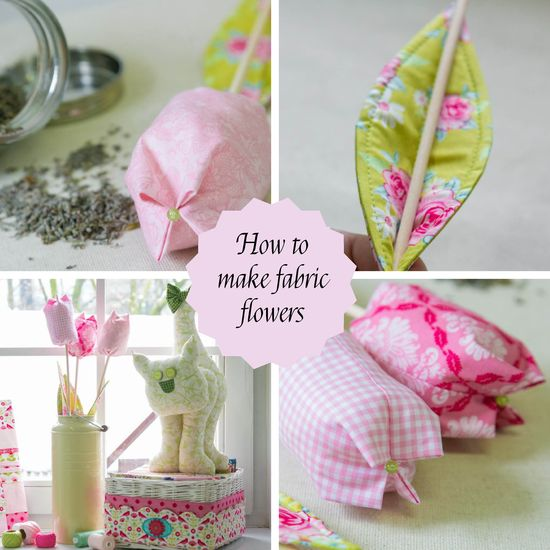 Do it yourself (DIY) :: Fabric flowers - tulips