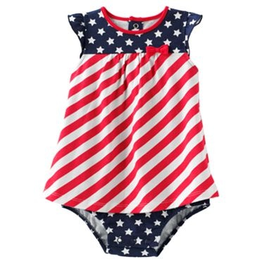 Jumping Beans Stars and Stripes Sunsuit - Baby