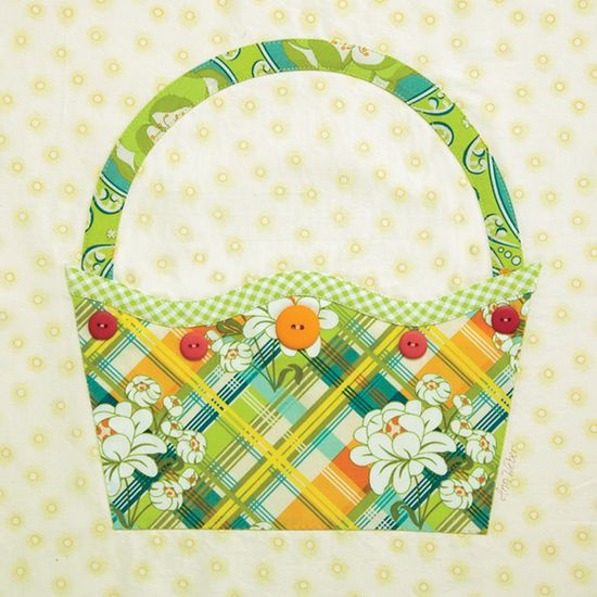 Button Basket block as seen in Quiltmaker's 100 Blocks Volume 2. - Gingham Girls