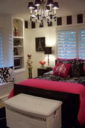 My daughter would LOVE this!!!   Teenage Girls Bedroom - id love that for my grown up room!! Lol minus a few pink details.. Jordan wouldn't appreciate that ;),  Go To www.likegossip.com to get more Gossip News!
